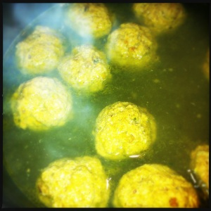 Poached meatballs