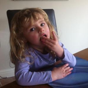 Chloe taste testing