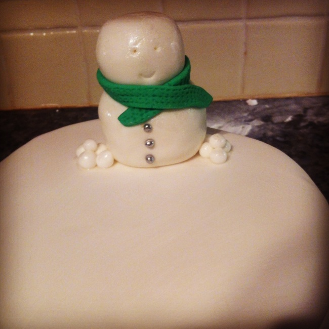 Rescued Christmas Cake