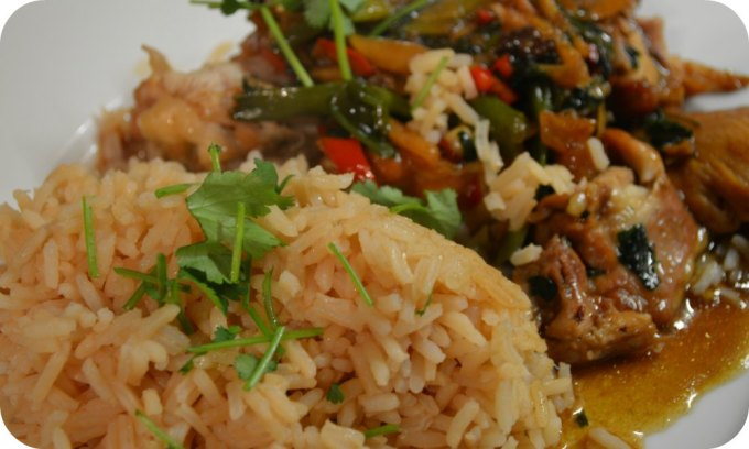Chai spiced rice & Vietnamese chicken