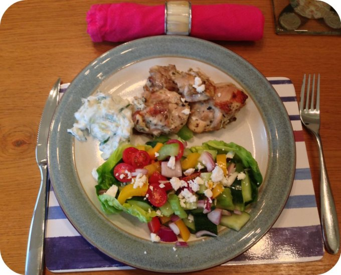 Greek Chicken, Greek Salad