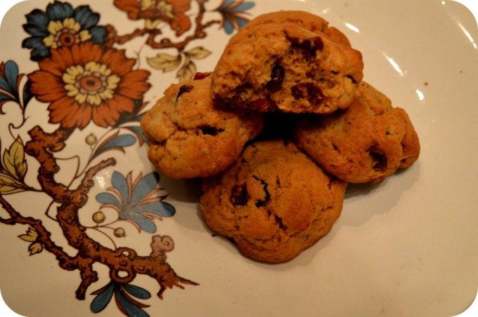 Boozy cranberry cookies